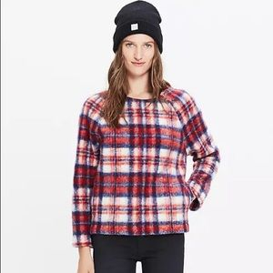 Madewell • Brushed Wool Plaid Sweater Top
